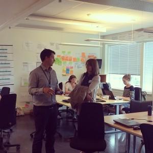 Helle og Andrè i #oslobeta sine prosjektlokaler